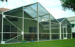 Our enclosures offer outdoor living space and debris protection.